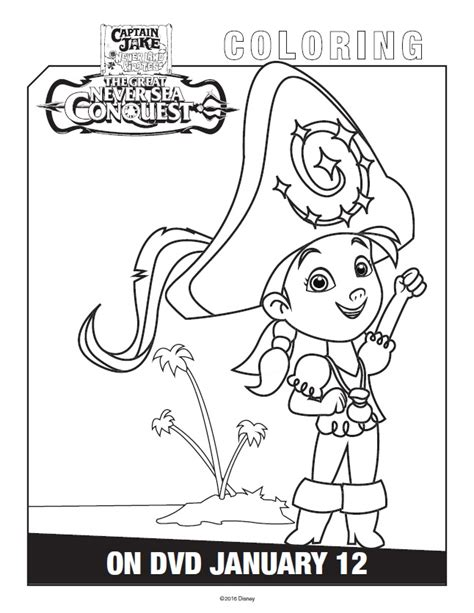 free coloring pages of izzy neverland pirate