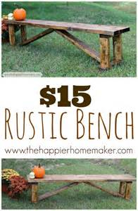 How To Make A Rustic Bench Woodwork Rustic Bench Diy Pdf Plans