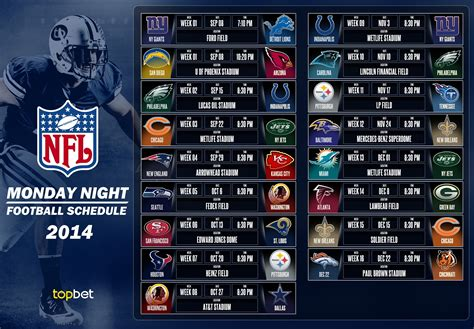 printable nfl monday night football schedule 2015 printable nfl playoff schedule 2014 2015