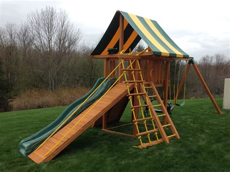 backyard slide plans furniture swing set wooden outdoor patio swings slide
