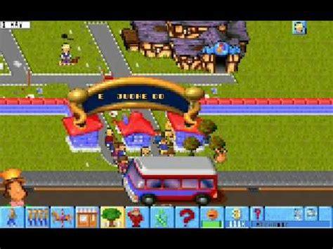 theme park maker game bullfrog productions theme park 1994 youtube