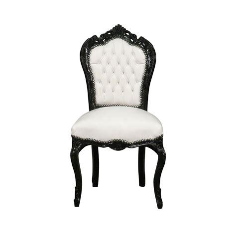 chaise blanche et noir chaise baroque et blanche vesoul meuble baroque