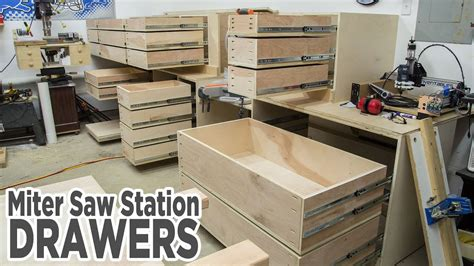 miter  station storage drawers  youtube