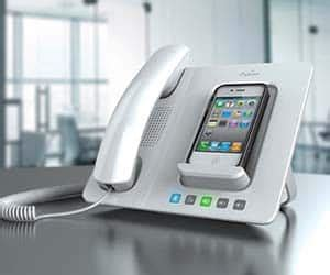 turn your cellphone into a desk phone iphone landline dock