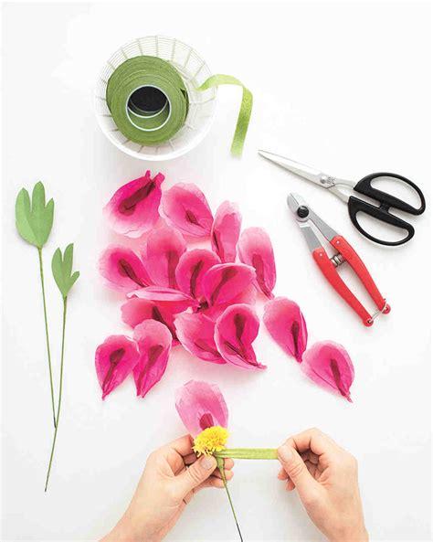 How To Make Paper Flowers Martha Stewart - how to make paper flowers peony martha stewart weddings