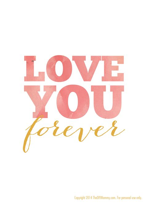 imagenes i love you forever free nursery quote artwork watercolor printable quot love you