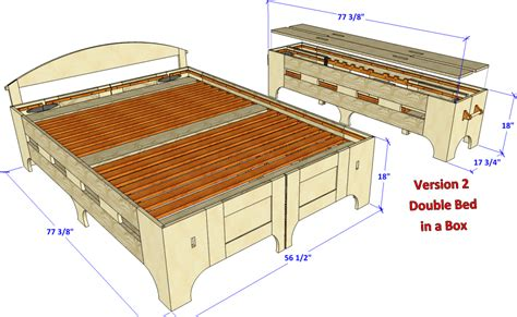 bed in a box plans new double folding bed v2 148 3d woodworking plans