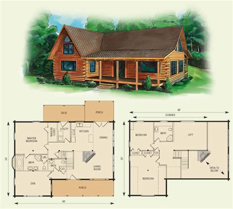 log cabin with loft floor plans cabin floor loft with house plans dogwood ii log home