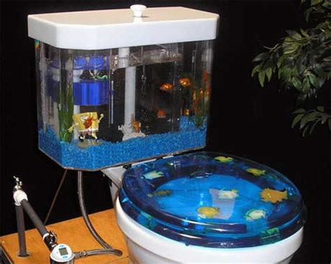bathroom fish tank toilet aquarium fosfor gadgets