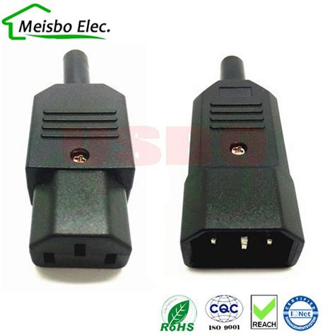 Konektor C13 Or C15 3 Pin new diy 10a 250v black iec c13 c14 rewirable power connector 3 pin ac socket