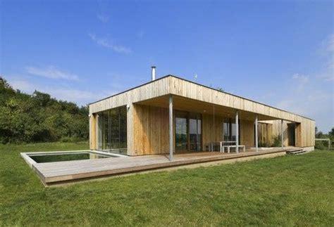 houten strakke woning 1 bouwlaag moderne woning