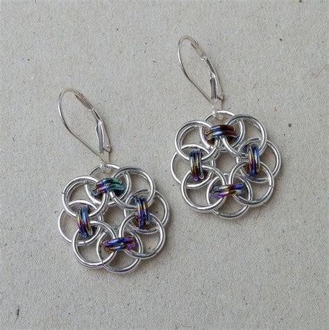 Handmade Metal Earrings - 1000 images about celtic knots on chainmaille