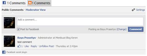 cara membuat blog facebook cara membuat komentar facebook di blog benny personal blog