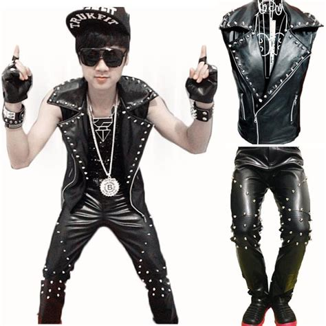 10 male musicians with the best rock punk hip hop and emo cool men gothique punk rock leather motorcycle vest