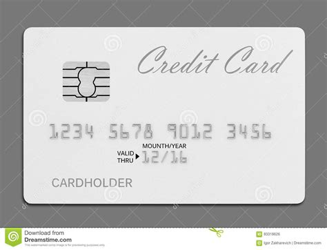 Credit Card Background Template White Credit Card Template On White Background Royalty Free Illustration Cartoondealer
