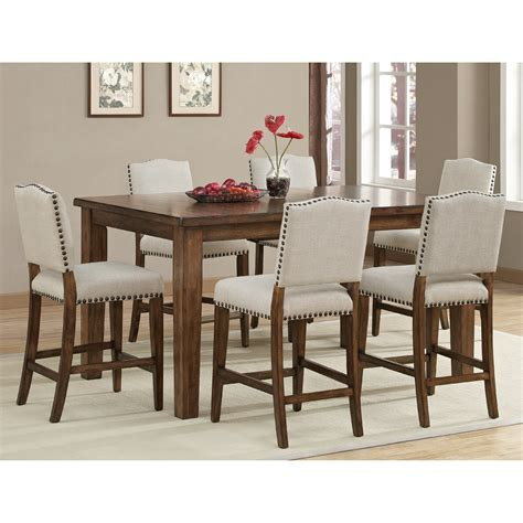 Coastal Dining Room Sets Ahb Cameo Counter Height Dining Table In Coastal Grey