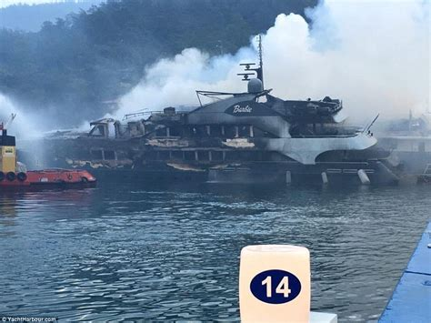 barbie boat pictures barbie and the one superyachts destroyed in fire in