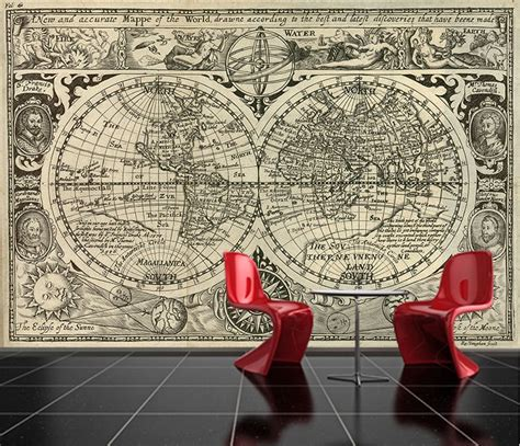 old world map wall paper decor pinterest peel and stick photo wall mural decor wallpapers old world