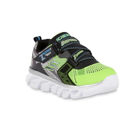Skechers Z by Skechers Boys Z Green Black Light Up Athletic Shoe