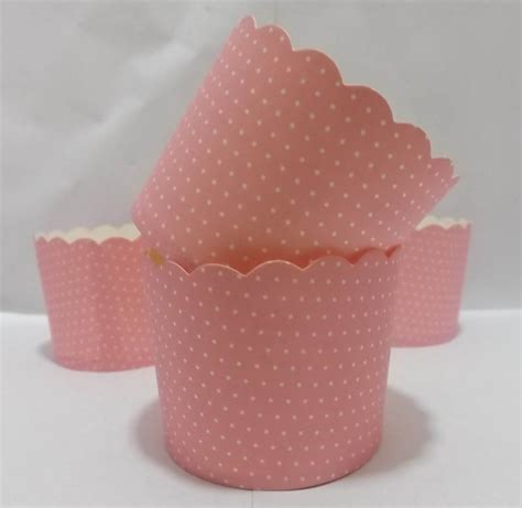 How To Make Cupcake Holders With Paper - free shipping pink small white dots mini baking cups
