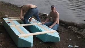homemade ponton boat testing youtube