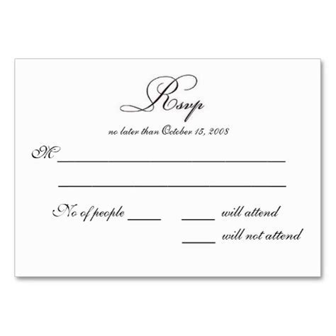 Free Printable Wedding Rsvp Card Templates   vastuuonminun