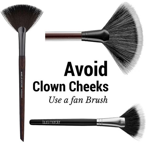 what is a fan makeup brush used avoid clown cheeks use a fan brush musings of a muse