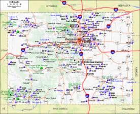 Colorado On Map by Map Of Colorado Travel Holiday Map Travelquaz Com