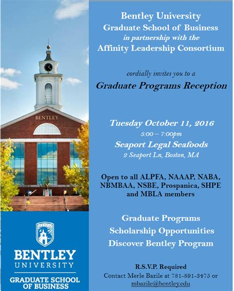 Bentley Mba Scholarship by Discover Bentley Graduate Programs Reception