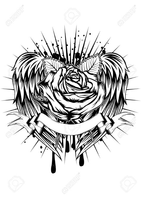 rose tattoo with wings roses and wings search