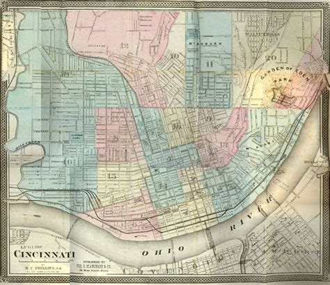 map of cincinnati cincinnati historical maps of cincinnati