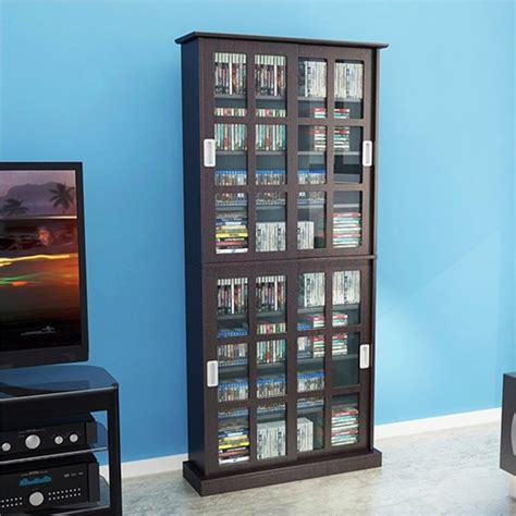 atlantic windowpane multimedia cabinet espresso 72 quot windowpane media cabinet in espresso 94835757