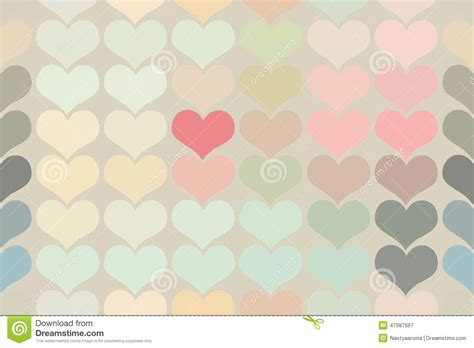 vintage heart pattern seamless vintage heart pattern background stock vector