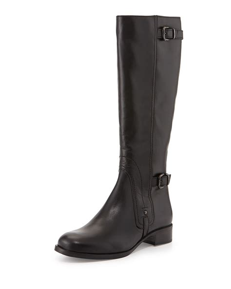 canadienne boots la canadienne suzanna leather knee boot in black lyst