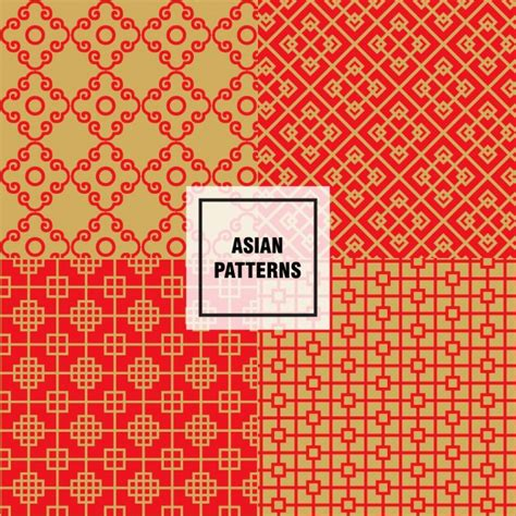 asian pattern ai asian abstract shapes patterns vector free download