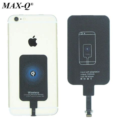 Charger Adaptor Iphone 5 6 7 Iphone5s 6s 6 7 7 Plus 6 Plus Ios 10 Pr qi wireless charger receiver wireless charging adapter for iphone 5 5s 6 4 7 6s 6 plus free