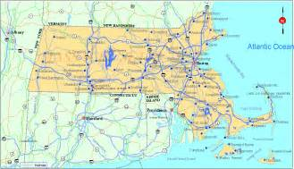 Map Massachusetts by Map Of Massachusetts Bing Images