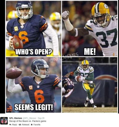 Chicago Bears Memes - september 28 2014 green bay packers chicago bears