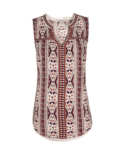 Lc Neo Embroidered Print embroidered henley tank rickis