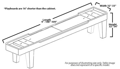 9 foot contempo shuffleboard table mcclure tables