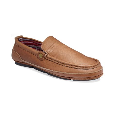 lb s slippers l b finn slippers in brown for lyst