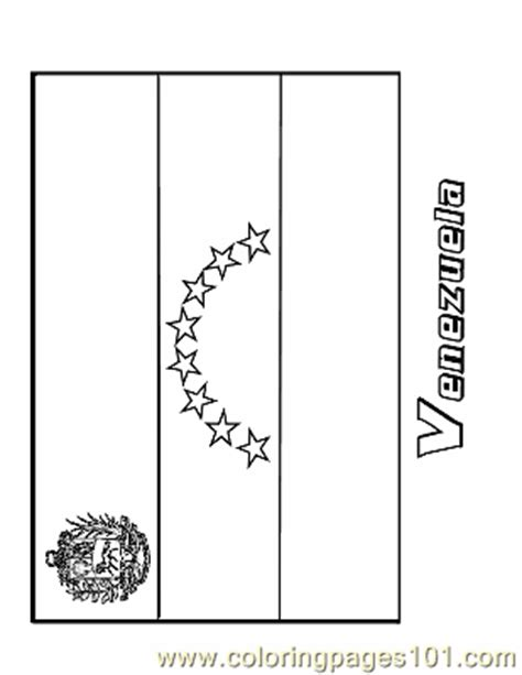 coloring pages venezuela education gt flags free