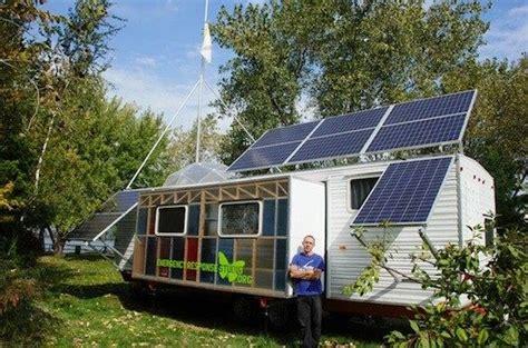 solar powered trailer home fema trailer to solar powered rv tiny house talk