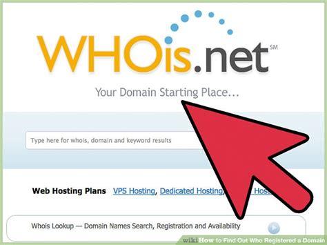find   registered  domain  steps