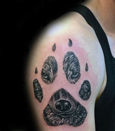 50 la pata del lobo dise 241 os de tatuajes para los hombres