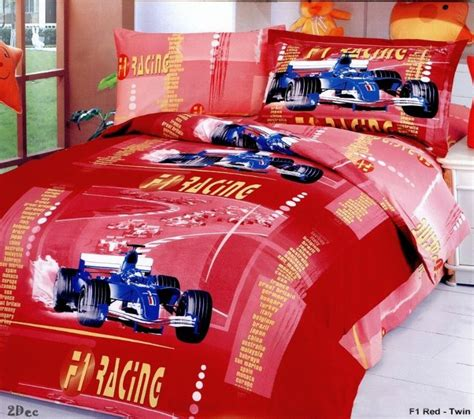racing bedding f1 racing red duvet covers for kids boys bedding sheet sets boys twin sze bed sheets car