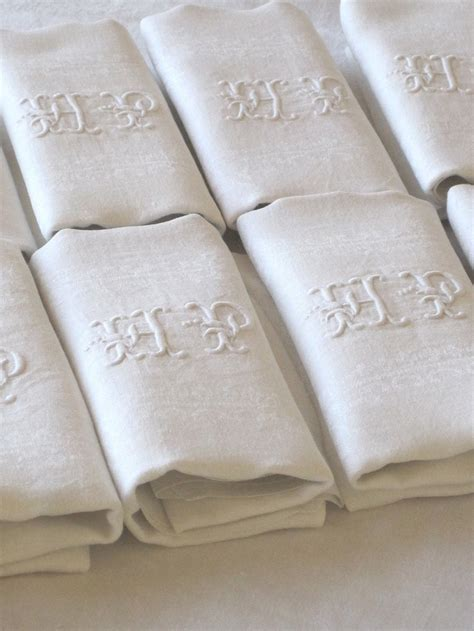monogrammed linen napkins 49 best have some decorum embroidered monogrammed napkins
