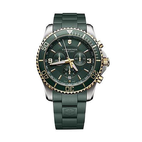 Jam Tangan Swiss Army Green jual victorinox swiss army maverick chronograph rubber jam