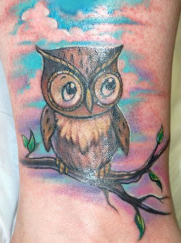 colorful owl tattoo owl tattoos
