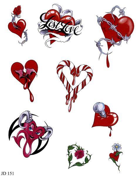 imagenes de corazones tatuados tatuajes para imprimir